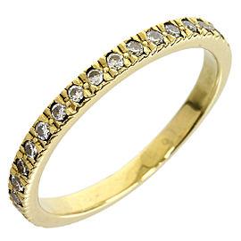 Tiffany & Co. 18K Yellow Gold Novo Half Eternity Enhanced Diamond Size 5.5 Ring