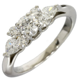 Tiffany & Co. Platinum Seven Enhanced Diamond Size 4 C8795 Ring
