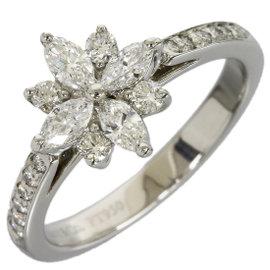 Tiffany & Co. Platinum Enhanced Diamond Size 4 Victorian Ring