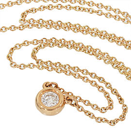 Tiffany & Co. Elsa Peretti 18K Rose Gold Diamond by the Yard Necklace