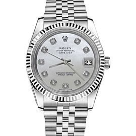 Rolex Datejust w Diamonds 18K/Stainless Steel Jubilee Ice Blue Flower 26mm Womens Watch