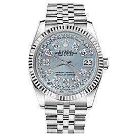 Rolex Datejust Stainless Steel String Diamond Ice Blue Face Jubilee 26mm Womens Watch