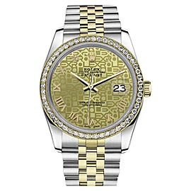 Rolex Datejust Champagne Logo Stainless Steel/ 18K Gold Jubilee Roman Numeral Face 36mm Unisex Watch