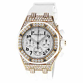 Audemars Piguet Royal Oak Offshore Chronograph Diamond Solid Gold & Rubber Strap 37mm Unisex Watch