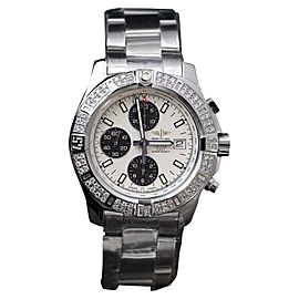 Breitling Colt Chronograph Stratus Silver Dial Stainless Steel with Diamond 44 mm Mens Watch