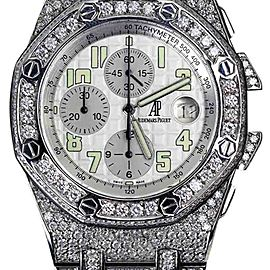 Audemars Piguet Royal Oak Offshore Custom Diamond Stainless Steel 44mm Unisex Watch