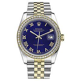 Rolex Datejust 2 Tone Blue Color Roman Numeral Dial 31mm Womens Watch