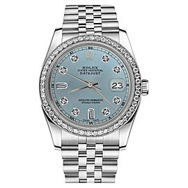 Rolex Datejust Stainless Steel Ice Blue Color Dial with Diamond Accent RT 26mm Womens Watch