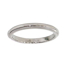 Tiffany & Co. 950 Platinum Milgrain Wedding Band Ring Size 4.75