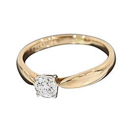 Tiffany & Co. 18K Rose Gold & 950 Platinum Diamond Harmony Ring Size 4.5
