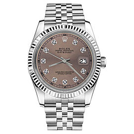Rolex Datejust Salmon Color Dial with Diamond Accent RT 26mm Womens Watch