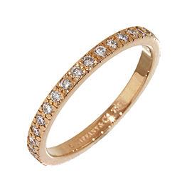 Tiffany & Co. 18K Rose Gold Diamond Novo Half Eternity Ring Size 5