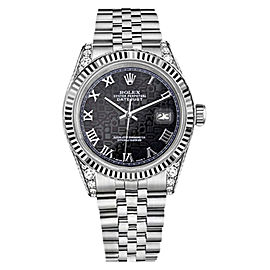 Rolex Datejust Stainless Steel with Black Dial 31mm Unisex Watch