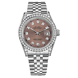 Rolex Datejust Stainless Steel and 18K White Gold with Salmon Dial 31mm Unisex Watch