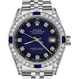 Rolex Datejust Blue Vignette Dial with Sapphire & Diamond Bezel Accent SP 26mm Unisex Watch
