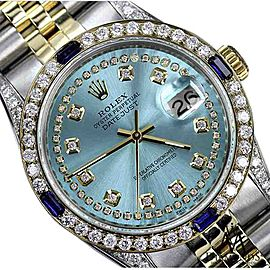 Rolex Datejust Ice Blue String Dial with Sapphire & Diamond 26mm Unisex Watch