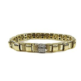 Roberto Coin 18k Yellow Gold .18tcw; G-H; VS2-SI1 Diamond Bracelet