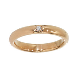 Tiffany & Co. Elsa Peretti 18K Rose Gold Diamond Band Ring Size 5