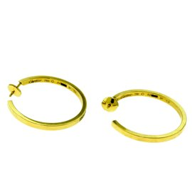 Cartier Inside Out Diamond Hoop Earrings in 18k Yellow Gold