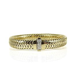 Roberto Coin 18k Yellow Gold .10tcw; G-H; VS2-SI1 Diamond Bracelet