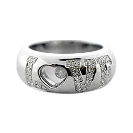 Chopard Happy Diamond 18K White Gold Heart Ring Size 6