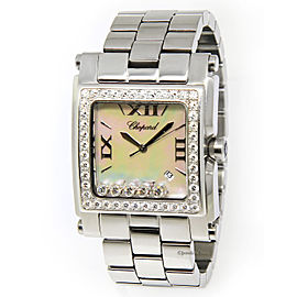Chopard Happy Sport Square XL 28-8448/20 Stainless Steel Mother of Pearl Diamond 32mm Womens Watch