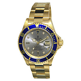 Rolex Submariner 16618 T 18K Yellow Gold Automatic 40mm Mens Watch