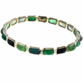 "Ippolita Rock Candy ""Green Neptune"" Sterling Silver Multi-Stone Mixed Hinge Bracelet"