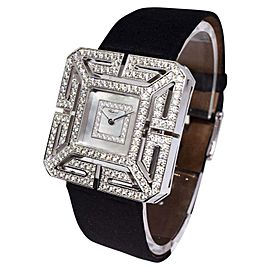 Chopard Joaillerie 13/6974 18K White Gold Mother Of Pearl Diamond 32.5mm Womens Watch