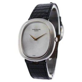 Patek Philippe Ellipse 3589 18K White Gold Automatic 33mm Mens Watch