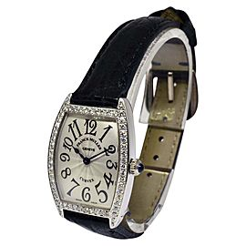 Franck Muller Curvex 1752 QZ DP 18K White Gold with Diamond Quartz 25mm Womens Watch