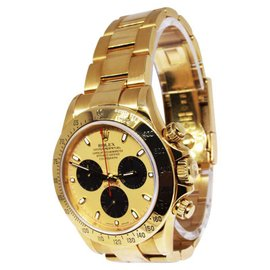 Rolex Daytona 116528 18K Yellow Gold Gold/Black Dial Automatic 40mm Mens Watch