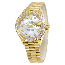 Rolex Datejust 69178 18K Yellow Gold with Mother Of Pearl Dial Automatic 26mm Womens Watch