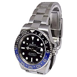 Rolex GMT-Master II 116710 Stainless Steel Black/Blue Ceramic Bezel Automatic 40mm Mens Watch