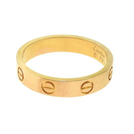 Cartier Love 18K Rose Gold Wedding Band Ring Size 14.75