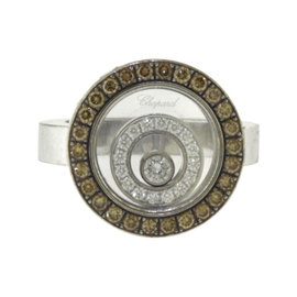 Chopard Happy Spirit 18K White Gold White Diamond Ring Size 6.25