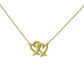 Tiffany & Co. Paloma Picasso 18K Yellow Gold Loving Hearts Interlocking Pendant Necklace