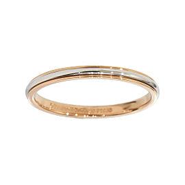 Tiffany & Co. Lucida Pt950 Platinum & 18K Rose Gold Band Ring Size 8.25