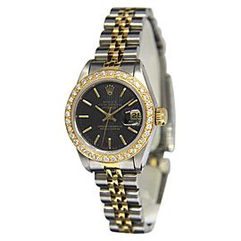 Rolex Datejust 69173 18K Yellow Gold and Stainless Steel with Diamond Dial 26mm Womens Watch