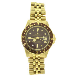 Rolex GMT Master Chocolate 1675 18K Yellow Gold 40mm Mens Automatic Watch