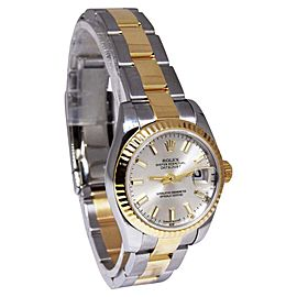 Rolex Datejust 179173 18K Yellow Gold/Stainless Steel Silver Dial Automatic 26mm Womens Watch 2017