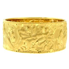 Carrera y Carrera 18K Yellow Gold Erotic Shakespeare Inspired Bangle Bracelet