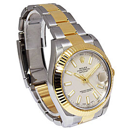 Rolex Datejust II 116333 18K Yellow Gold and Stainless Steel with Ivory Dial Automatic 41mm Mens Watch