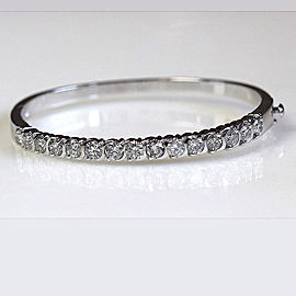 Platinum Diamond Bangle Bracelet