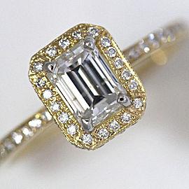 18K Yellow Gold Diamond Engagement Ring Size 6.5