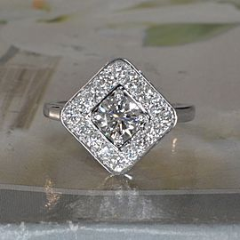 14K White Gold Diamond Ring Size 6.5