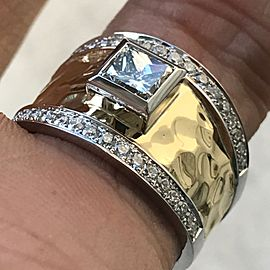 18K Yellow & White Gold Diamond Ring Size 6.5