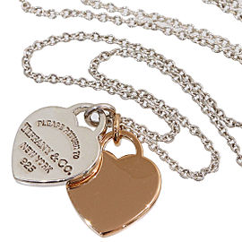 Tiffany & Co. 18K Rose Gold, Sterling Silver Necklace
