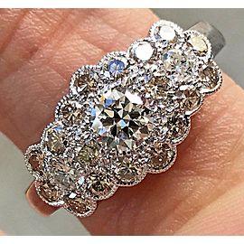 14k White Gold Diamond Ring Size 6.5