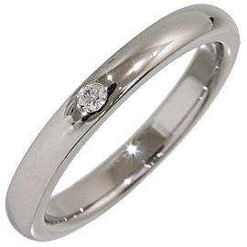 Tiffany & Co. Elsa Peretti Platinum Diamond Ring Size 5